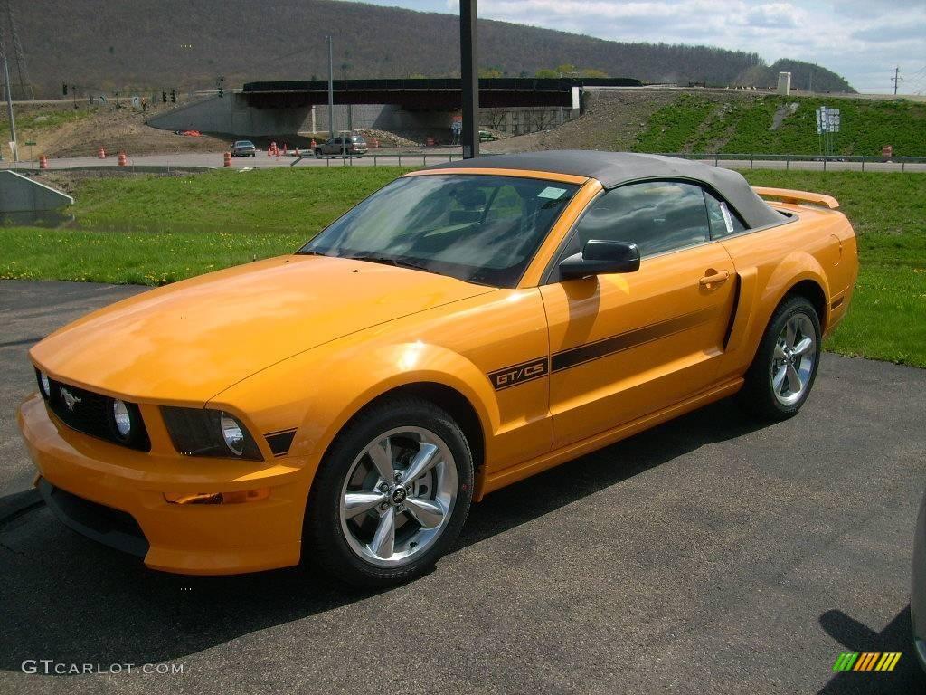 2008 grabber orange ford mustang gt cs california special convertible 4364689. Black Bedroom Furniture Sets. Home Design Ideas