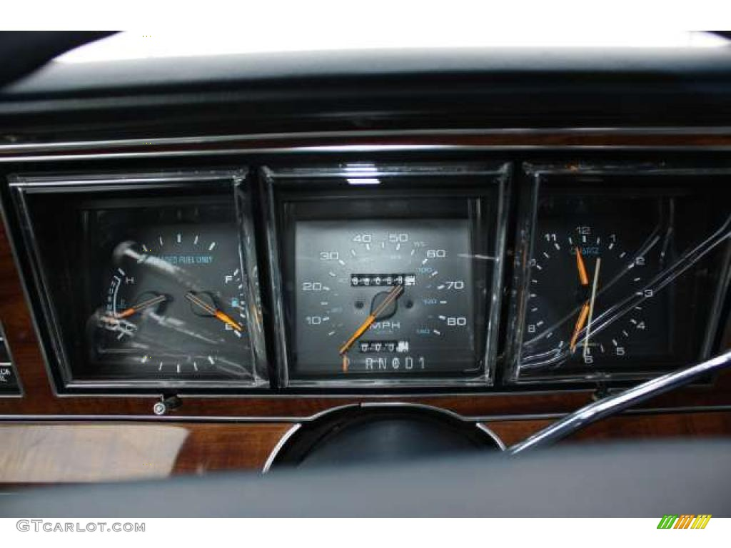 1989 lincoln town car standard town car model gauges photo 43785034. Black Bedroom Furniture Sets. Home Design Ideas