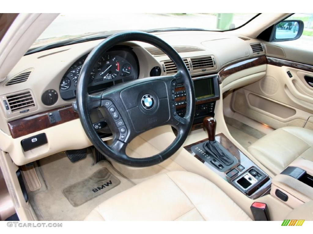 Sand Interior 2000 BMW 7 Series 740iL Sedan Photo 43789602
