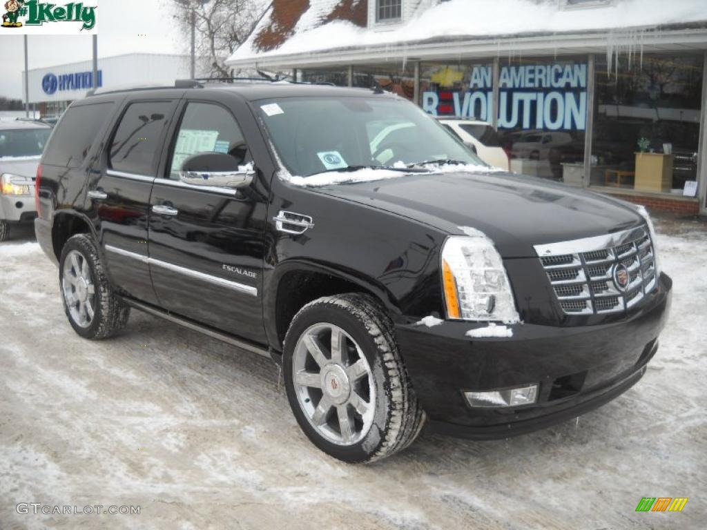 2011 Cadillac Escalade Premium AWD - Black Raven Color / Ebony/Ebony
