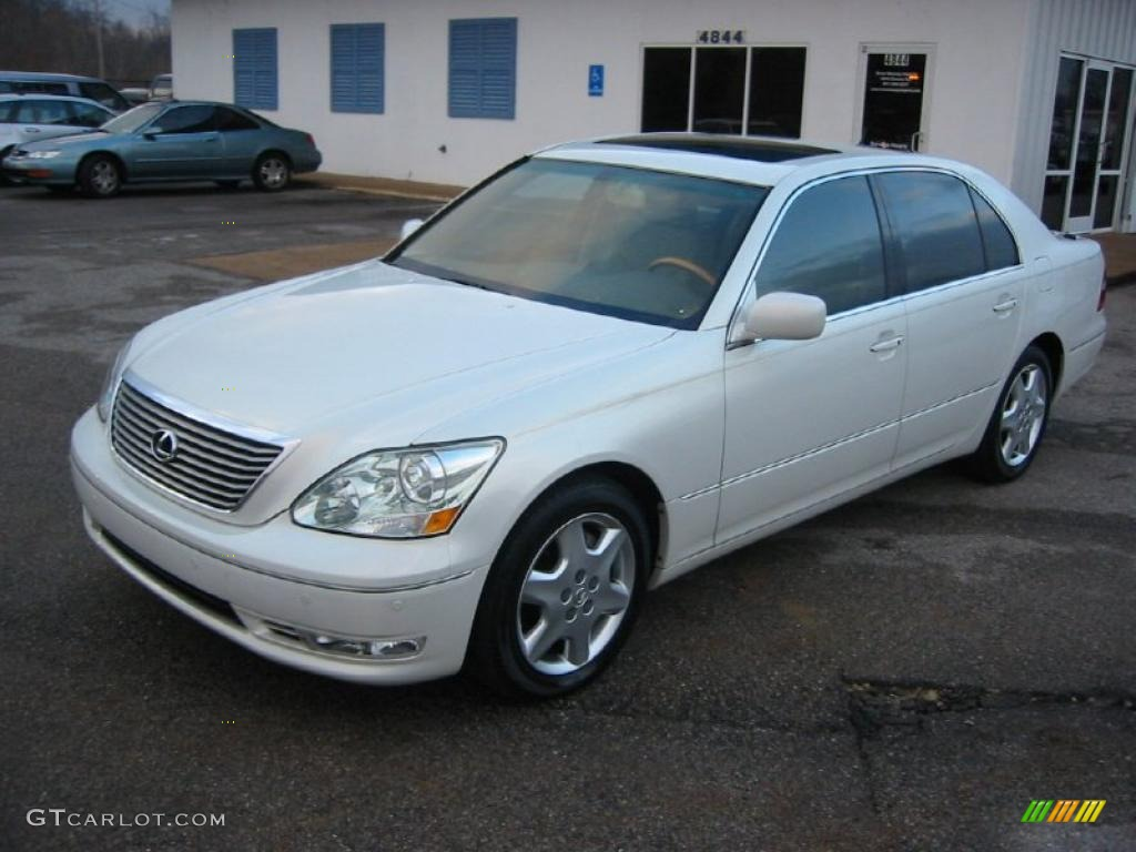 2005 crystal white lexus ls 430 sedan 43782062 gtcarlot. Black Bedroom Furniture Sets. Home Design Ideas