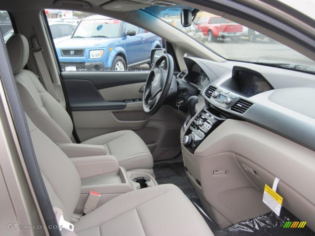 Beige Interior 2011 Honda Odyssey Ex L Photo 43828865