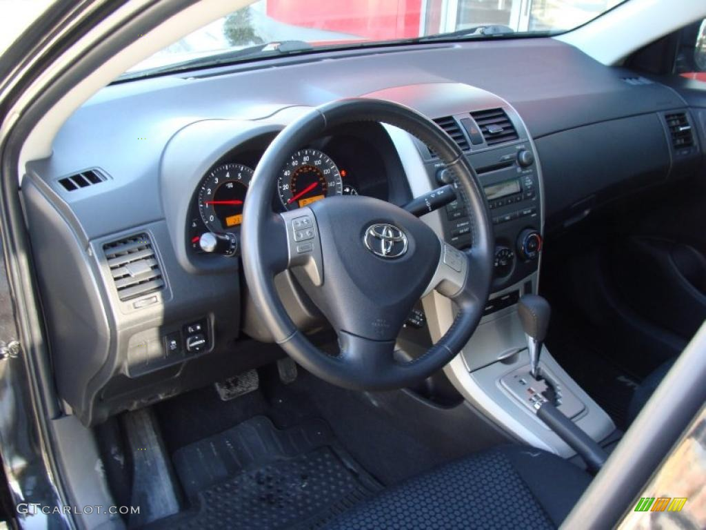 Dark Charcoal Interior 2009 Toyota Corolla Xrs Photo 43841825
