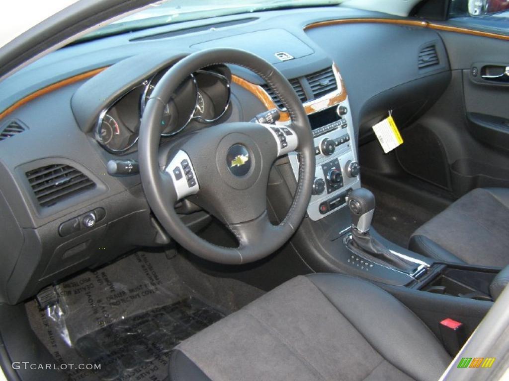 Ebony Interior 2011 Chevrolet Malibu Lt Photo 43845549