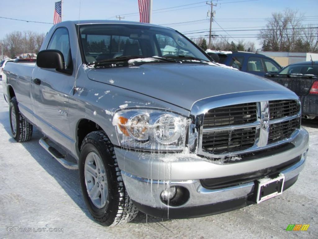 2008 Ram 1500 SLT Regular Cab - Bright Silver Metallic / Medium Slate Gray photo #1