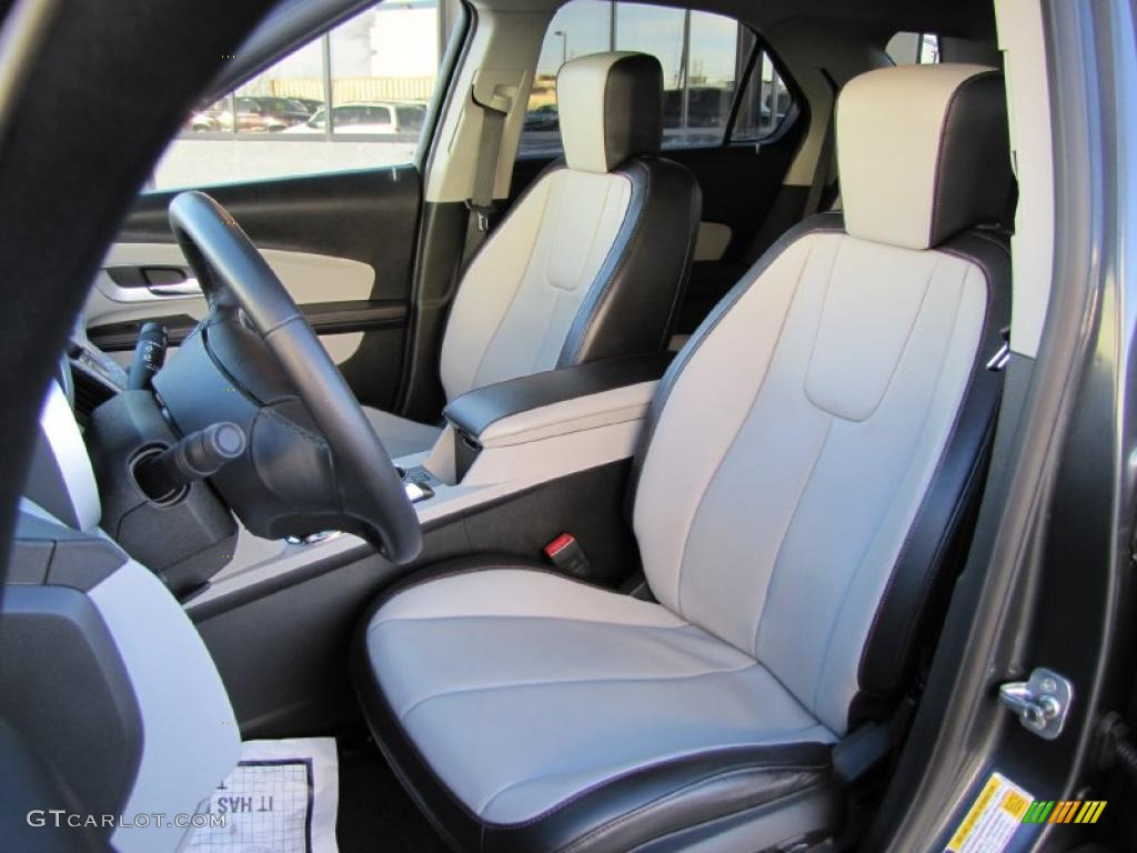 Jet Black Light Titanium Interior 2010 Chevrolet Equinox