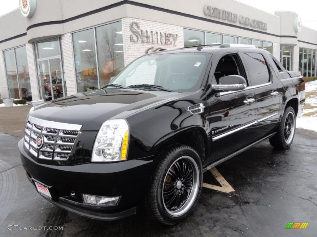 2009 black raven cadillac escalade ext awd 43880236 car color galleries. Black Bedroom Furniture Sets. Home Design Ideas