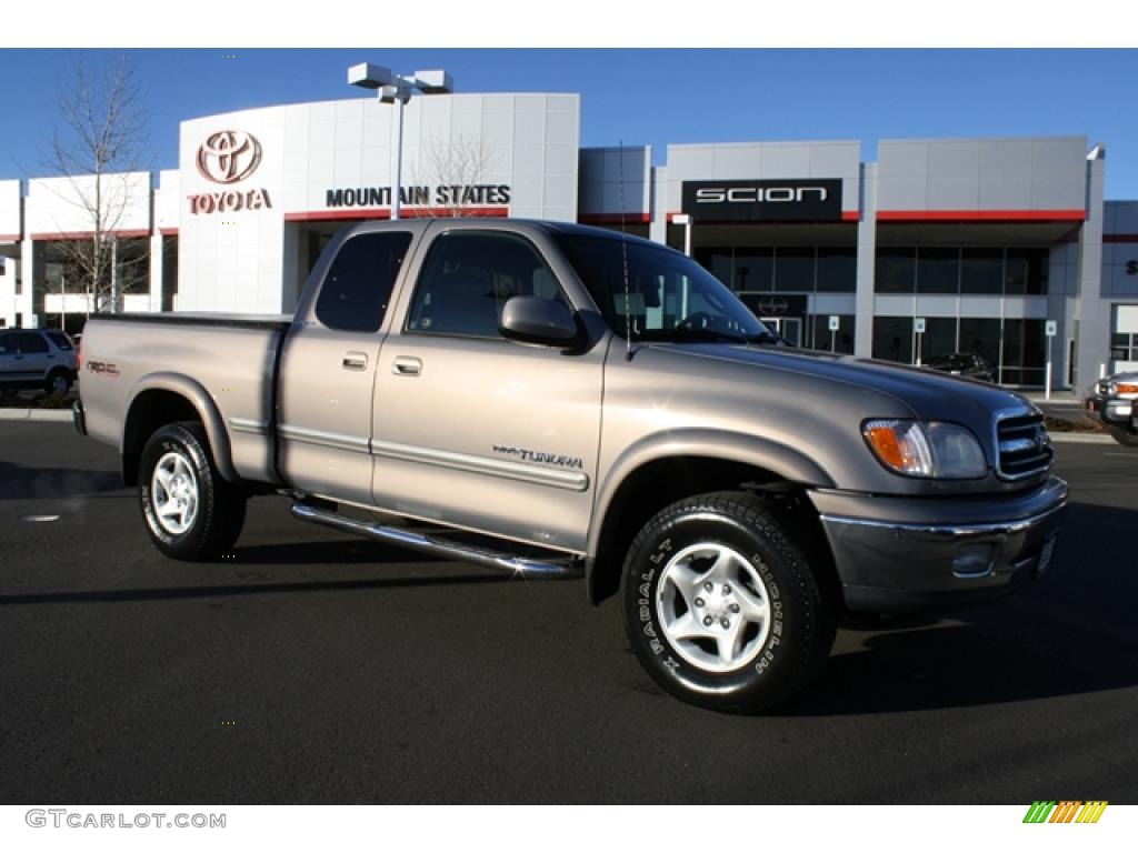 2000 golden sand metallic toyota tundra limited extended cab 4x4 43879825 car. Black Bedroom Furniture Sets. Home Design Ideas