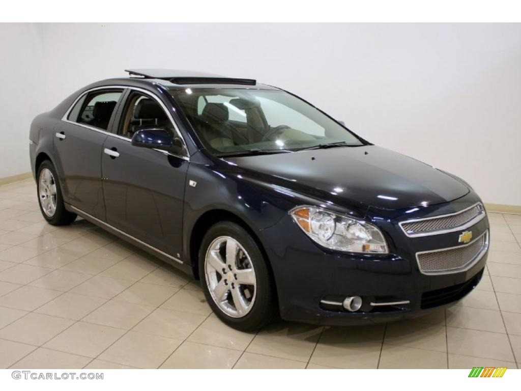 2008 imperial blue metallic chevrolet malibu ltz sedan. Black Bedroom Furniture Sets. Home Design Ideas