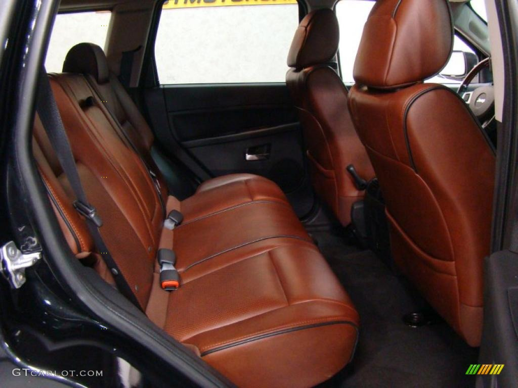 2008 Jeep Grand Cherokee Laredo >> Saddle Brown Royale Leather Interior 2009 Jeep Grand ...