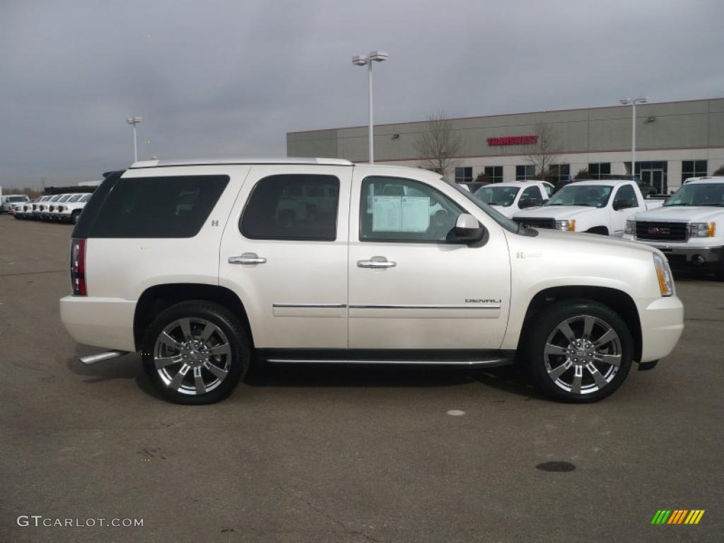 2010 White Diamond Tricoat Gmc Yukon Hybrid Denali 4x4 43879929 Photo 3