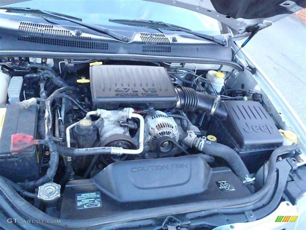 2003 jeep grand cherokee laredo 4x4 4 7 liter sohc 16 for Jeep grand cherokee laredo motor