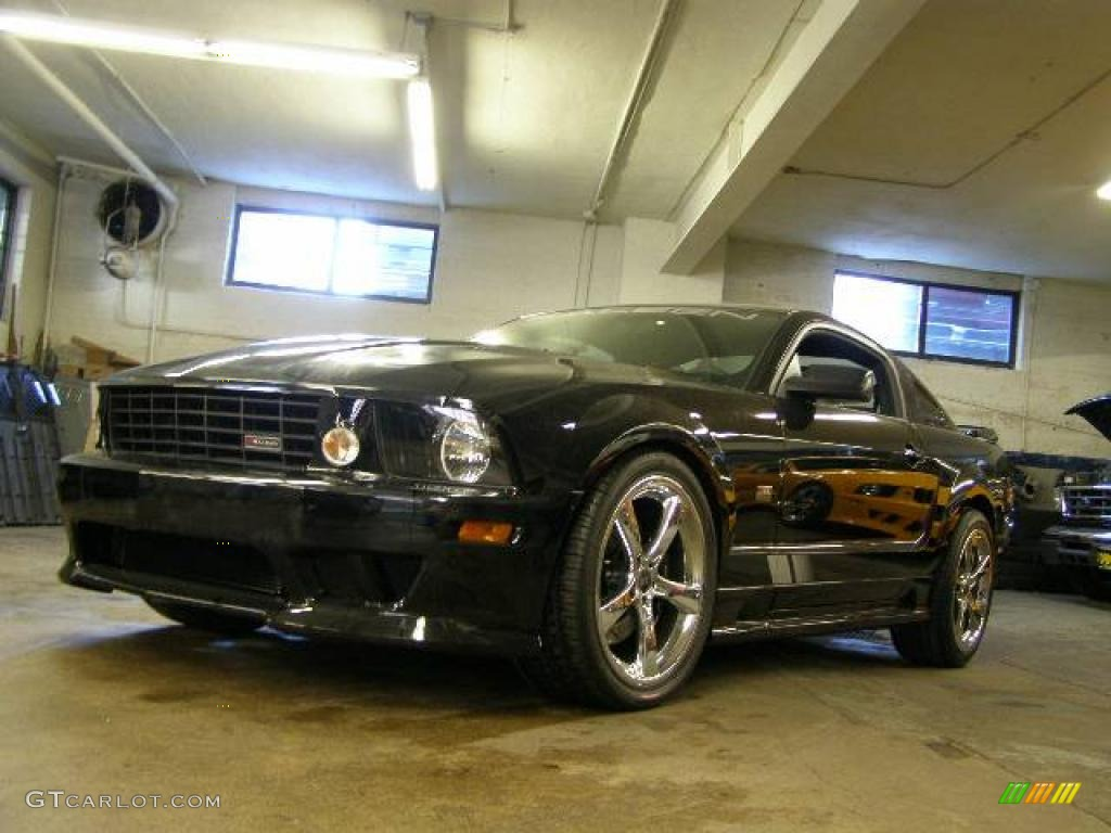 2007 Mustang Saleen S281 Supercharged Coupe - Black / Black Leather photo #1