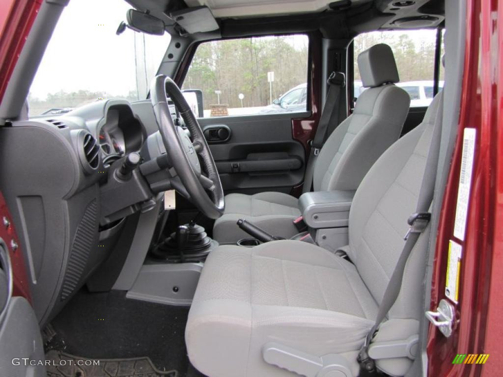 Dark Slate Gray Medium Slate Gray Interior 2007 Jeep Wrangler Unlimited Rubicon 4x4 Photo