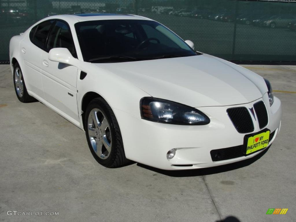 Ivory White 2008 Pontiac Grand Prix Gxp Sedan Exterior