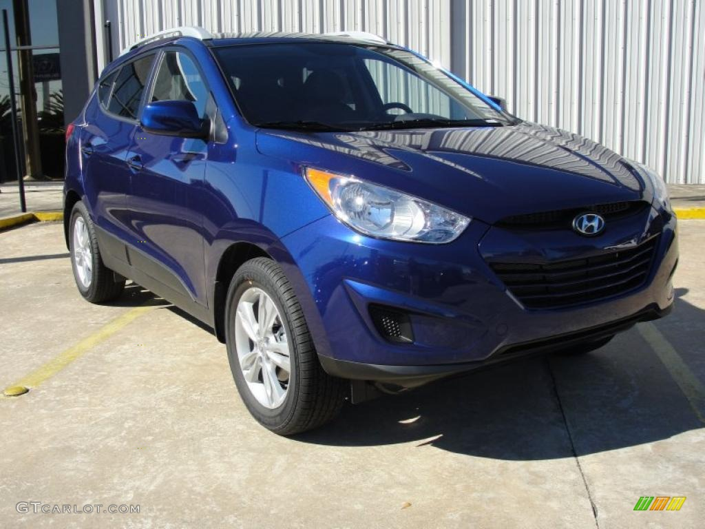 iris blue 2011 hyundai tucson gls exterior photo 44110034. Black Bedroom Furniture Sets. Home Design Ideas