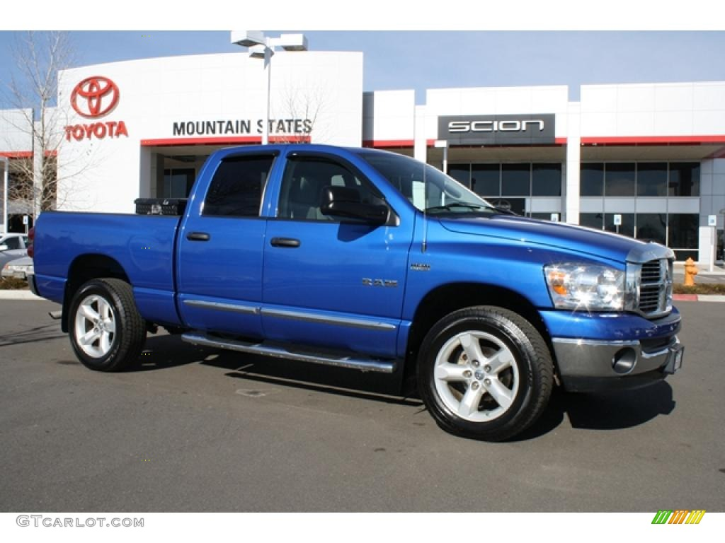 2008 electric blue pearl dodge ram 1500 big horn edition quad cab 4x4 44087404. Black Bedroom Furniture Sets. Home Design Ideas