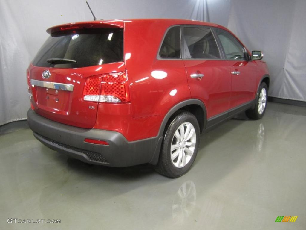 2011 Sorento EX - Spicy Red / Beige photo #11