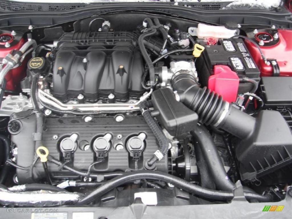 2011 ford fusion se v6 3 0 liter dohc 24 valve vvt duratec v6 engine photo 44142191. Black Bedroom Furniture Sets. Home Design Ideas
