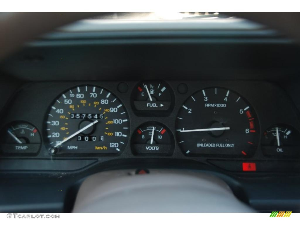 1992 mercury cougar ls gauges photo 44148349