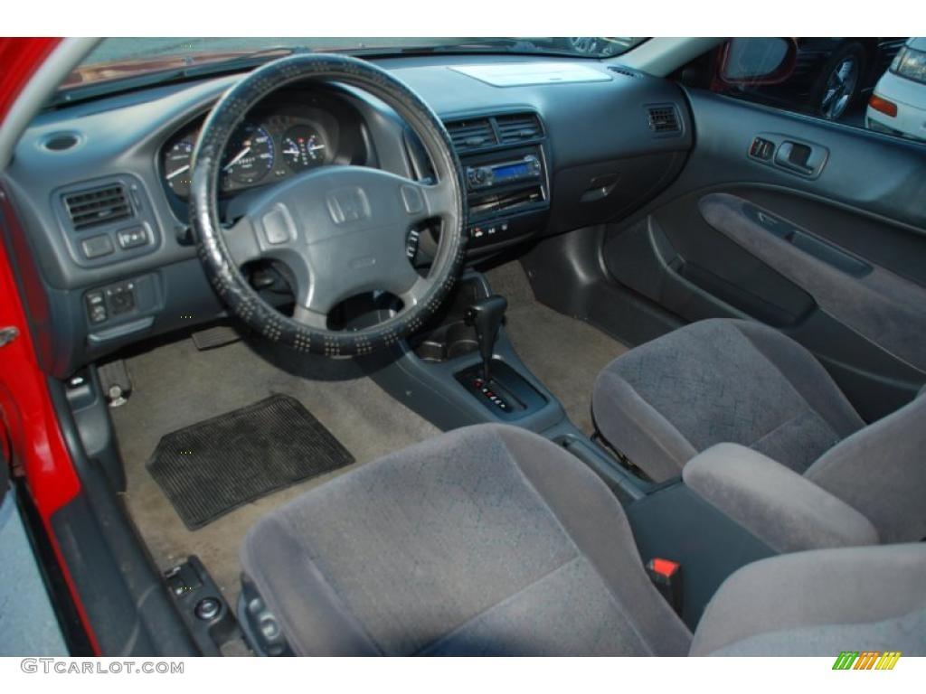 Dark Gray Interior 1999 Honda Civic Ex Coupe Photo 44149215