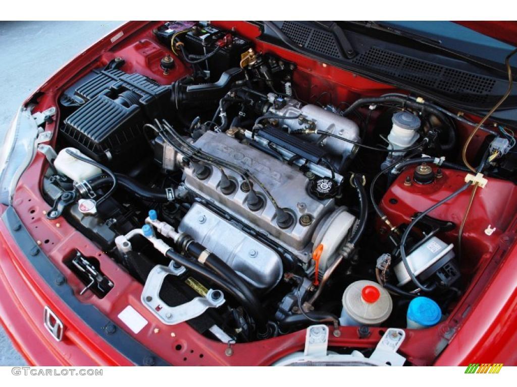 1999 Honda Civic Ex Coupe 1 6 Liter Sohc 16v Vtec 4 Cylinder Engine