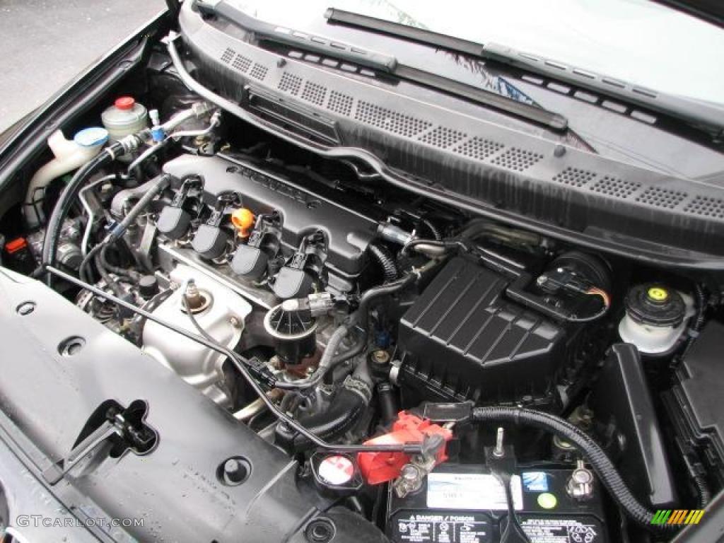 2006 honda civic ex coupe 1 8l sohc 16v vtec 4 cylinder engine photo 44181852. Black Bedroom Furniture Sets. Home Design Ideas