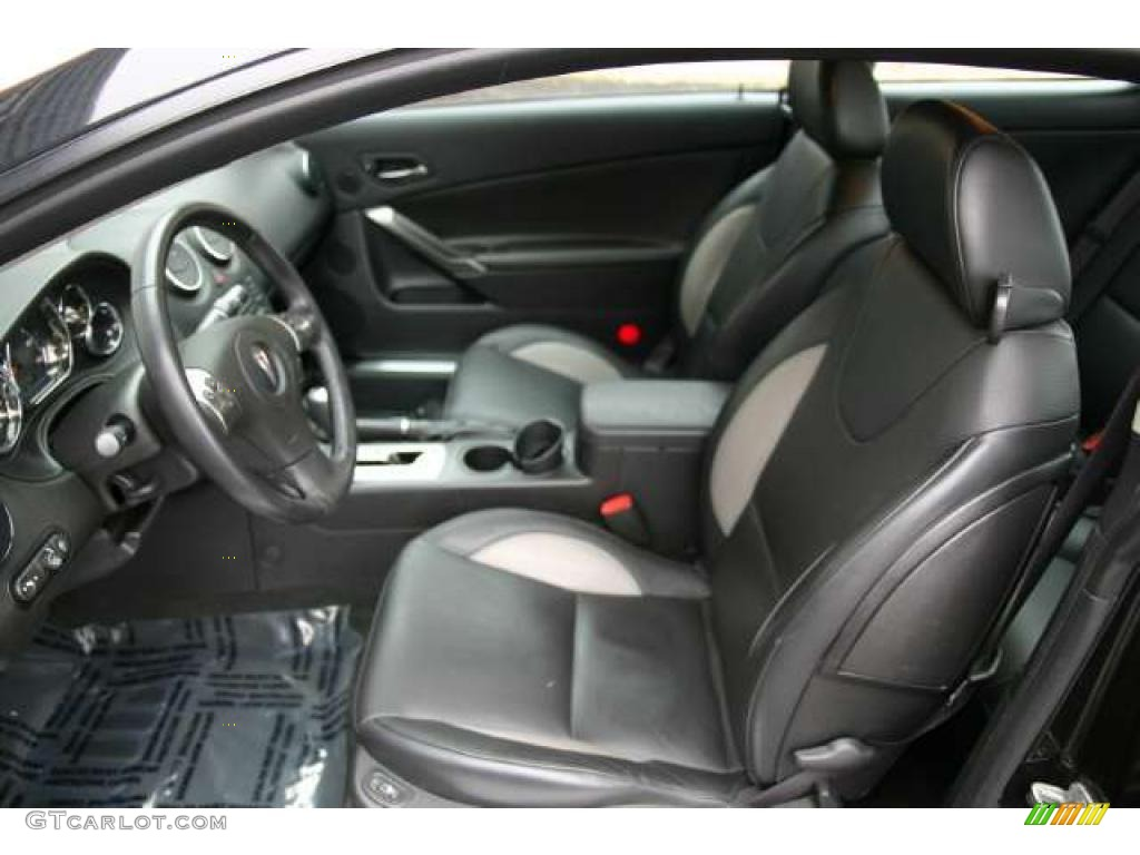Ebony Black Interior 2008 Pontiac G6 Gxp Coupe Photo
