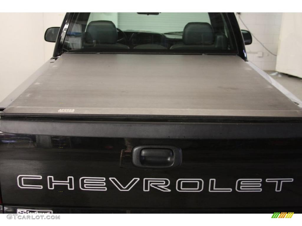2002 Silverado 1500 LS Regular Cab - Onyx Black / Graphite Gray photo #5