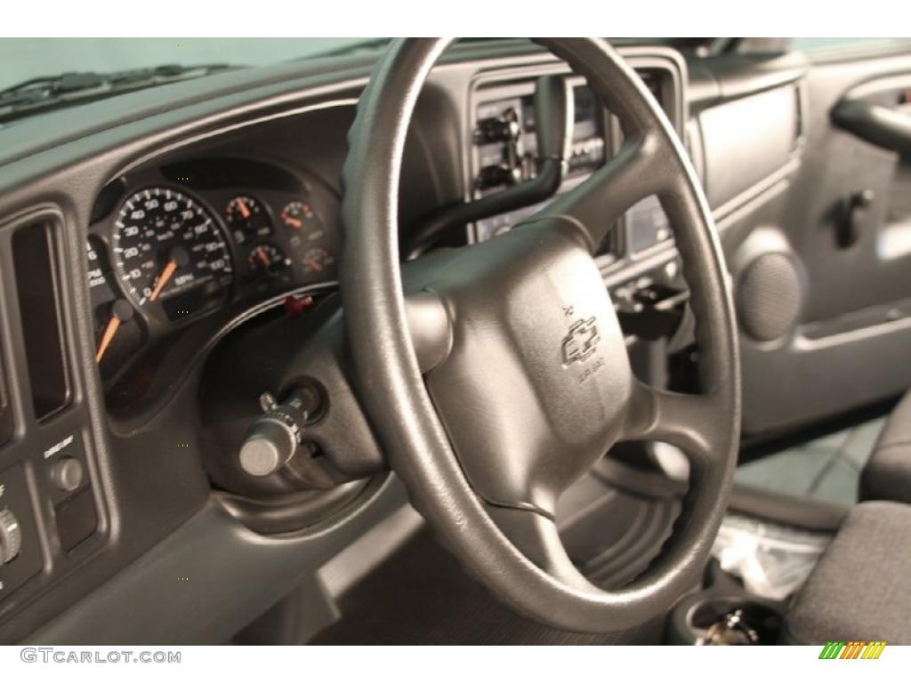 2002 Silverado 1500 LS Regular Cab - Onyx Black / Graphite Gray photo #8