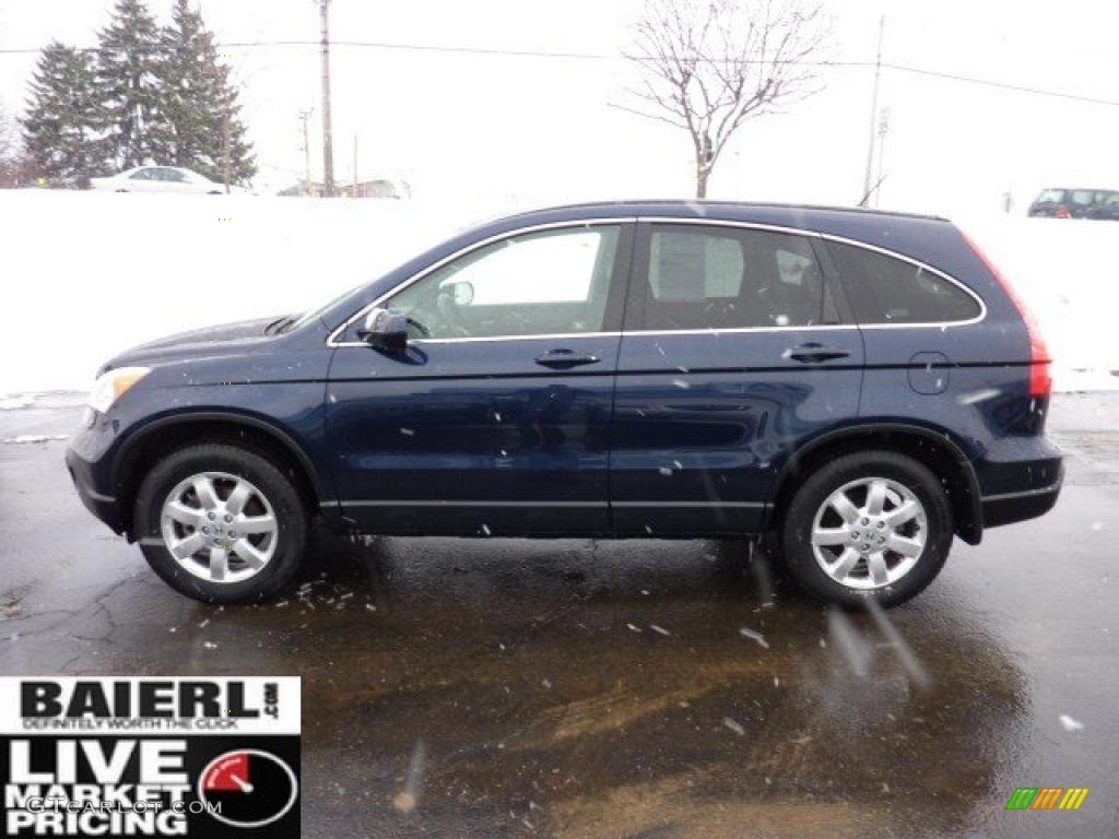 2008 CR-V EX-L 4WD - Royal Blue Pearl / Black photo #4