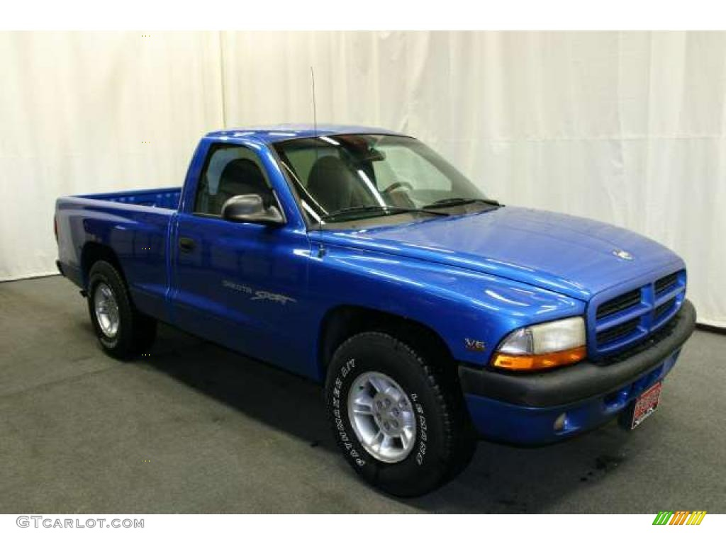 1999 Intense Blue Pearl Dodge Dakota Sport Regular Cab