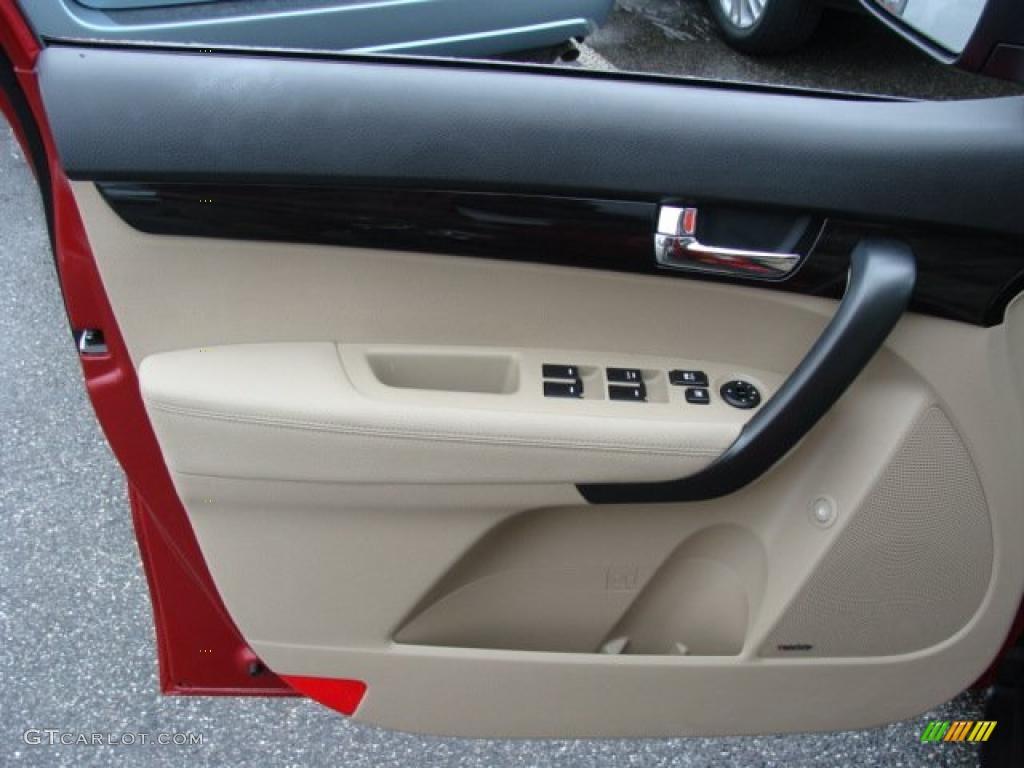 2011 Sorento EX V6 AWD - Spicy Red / Beige photo #6
