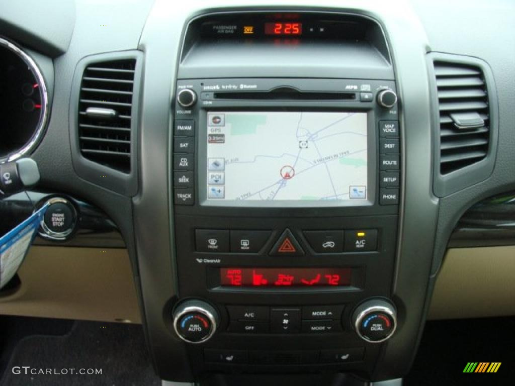 2011 Sorento EX V6 AWD - Spicy Red / Beige photo #11
