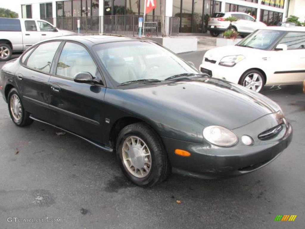 Dark Green Satin Metallic 1998 Ford Taurus Se Exterior Photo 44296337