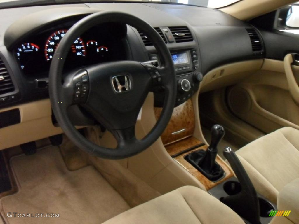 Ivory Interior 2004 Honda Accord Ex Coupe Photo 44324369