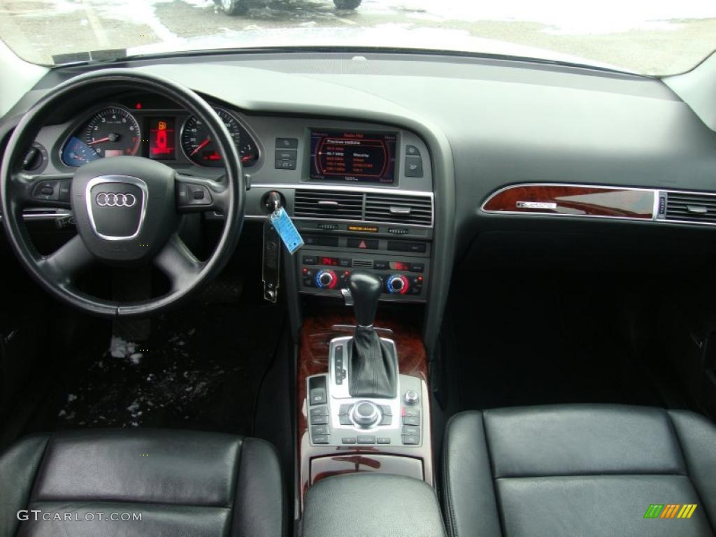2006 audi a6 4 2 quattro sedan ebony dashboard photo. Black Bedroom Furniture Sets. Home Design Ideas