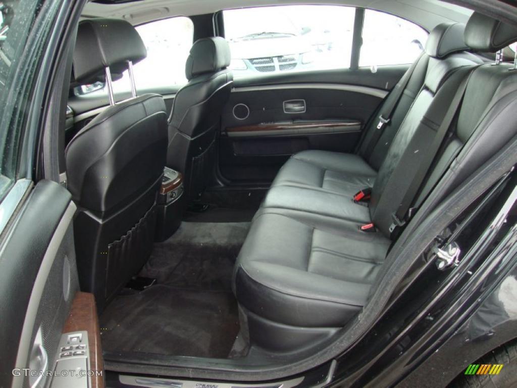 Black Interior 2002 BMW 7 Series 745Li Sedan Photo 44351334
