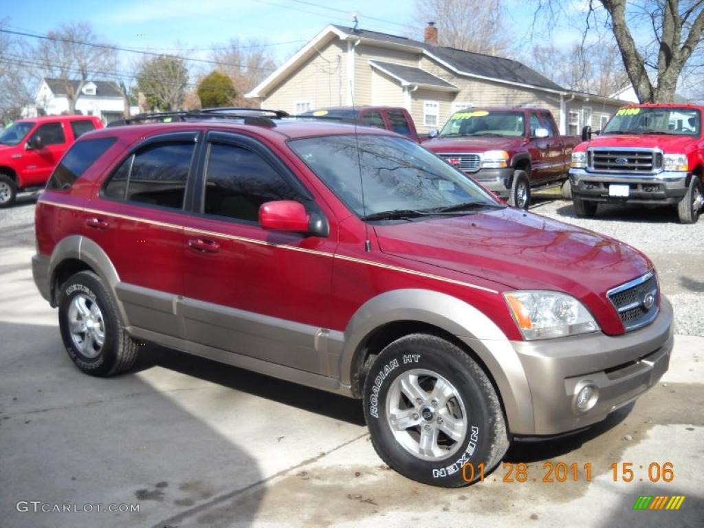 Jeep 2008 Liberty Ruby Red Metallic 2004 Kia Sorento EX Exterior Photo ...