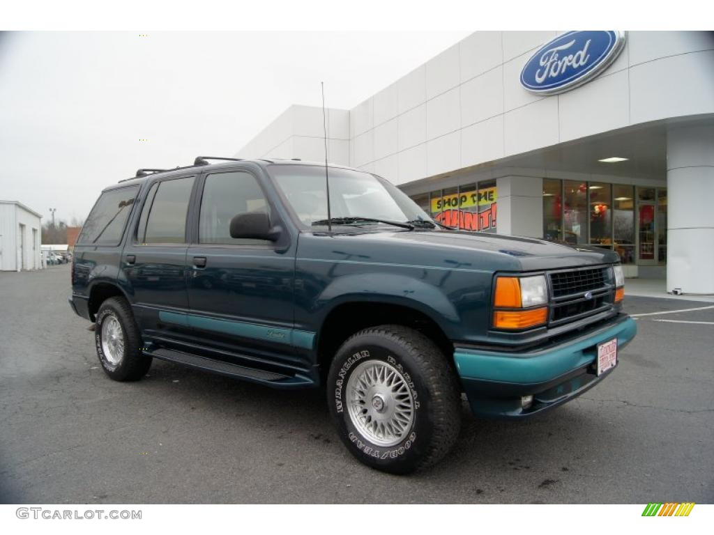 1994 deep emerald green metallic ford explorer limited 4x4 44511132 car color. Black Bedroom Furniture Sets. Home Design Ideas
