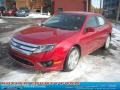 2011 Red Candy Metallic Ford Fusion SE  photo #19