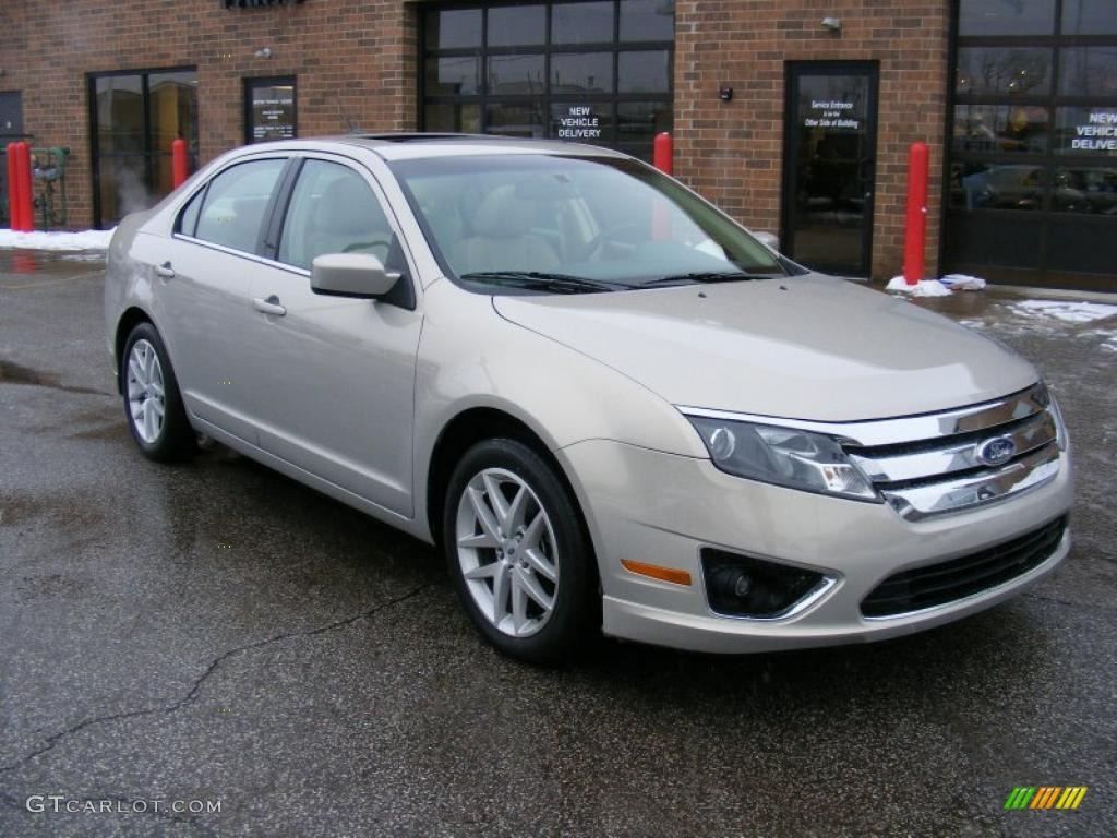 2010 Fusion SEL V6 - Smokestone Metallic / Camel photo #1