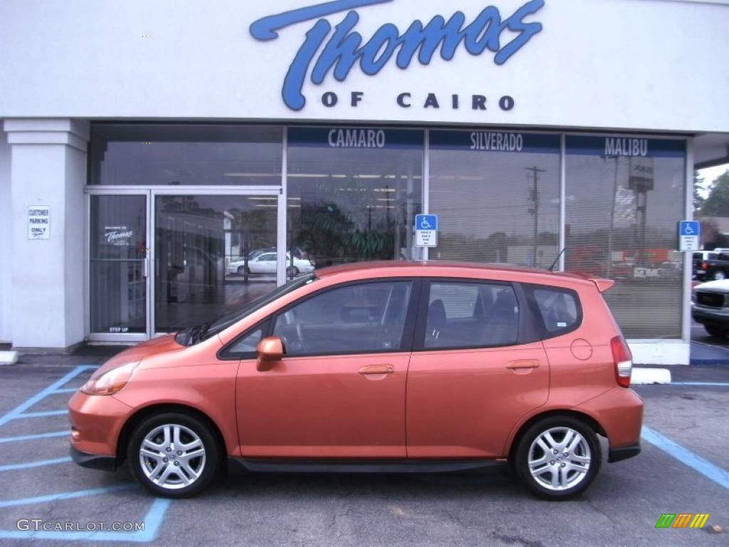 2008 blaze orange metallic honda fit sport 44511606 gtcarlot com car color galleries gtcarlot com