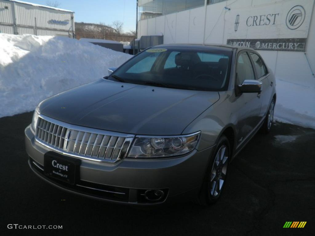 2008 MKZ AWD Sedan - Vapor Silver Metallic / Dark Charcoal photo #1