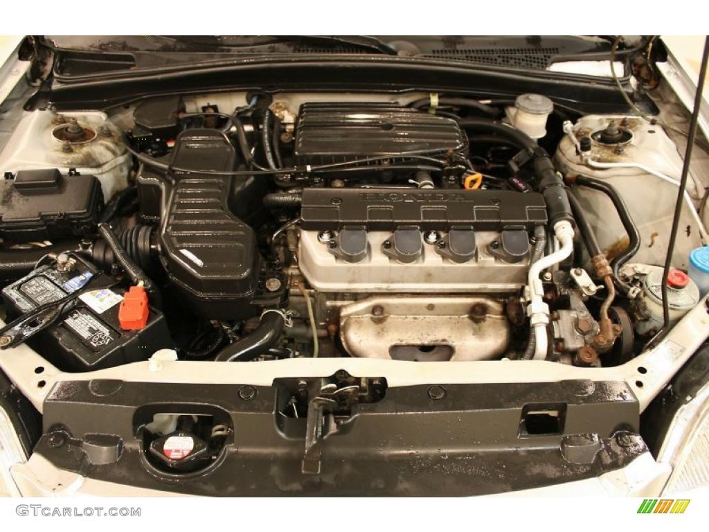 2003 Honda Civic Lx Sedan 1 7 Liter Sohc 16v 4 Cylinder
