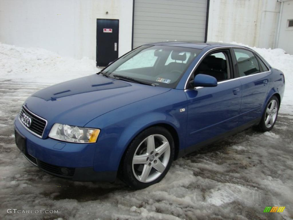 denim blue pearl 2002 audi a4 3 0 quattro sedan exterior. Black Bedroom Furniture Sets. Home Design Ideas