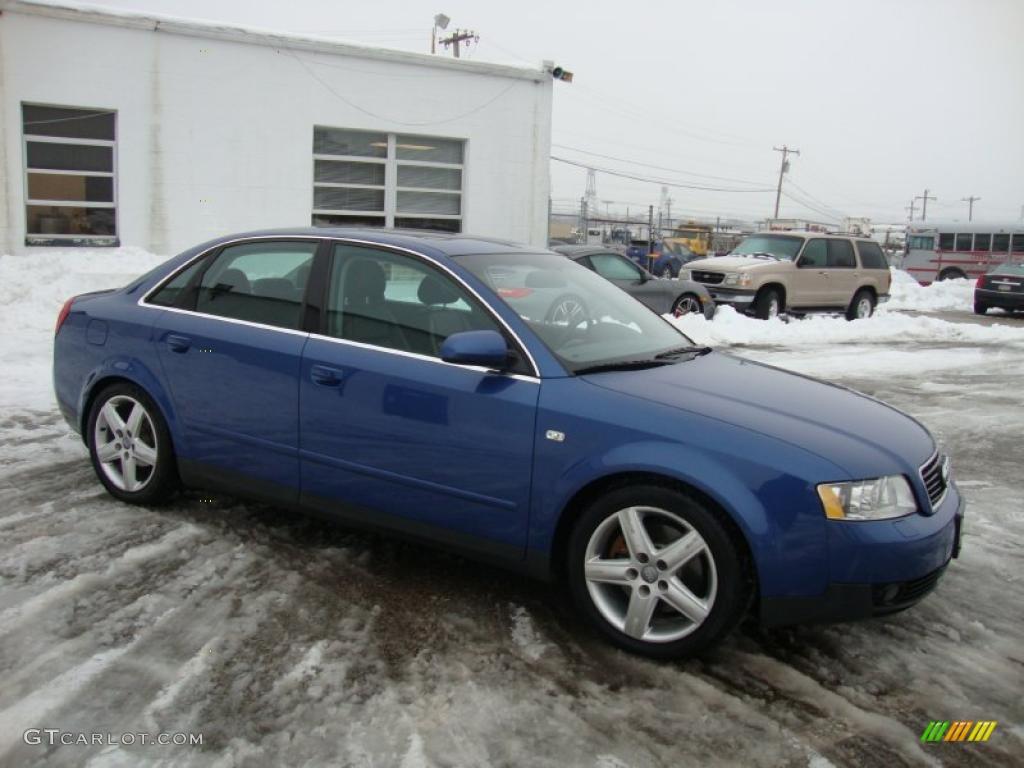 denim blue pearl 2002 audi a4 3.0 quattro sedan exterior photo