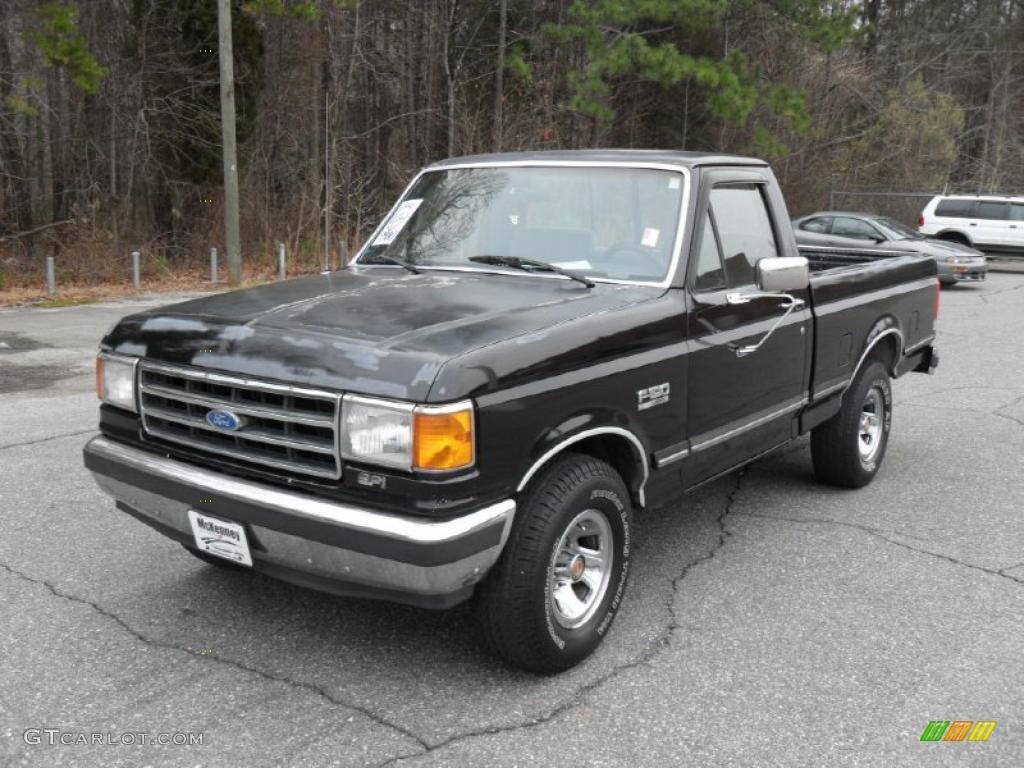 1990 black ford f150 xlt lariat regular cab 44511856 car color galleries. Black Bedroom Furniture Sets. Home Design Ideas