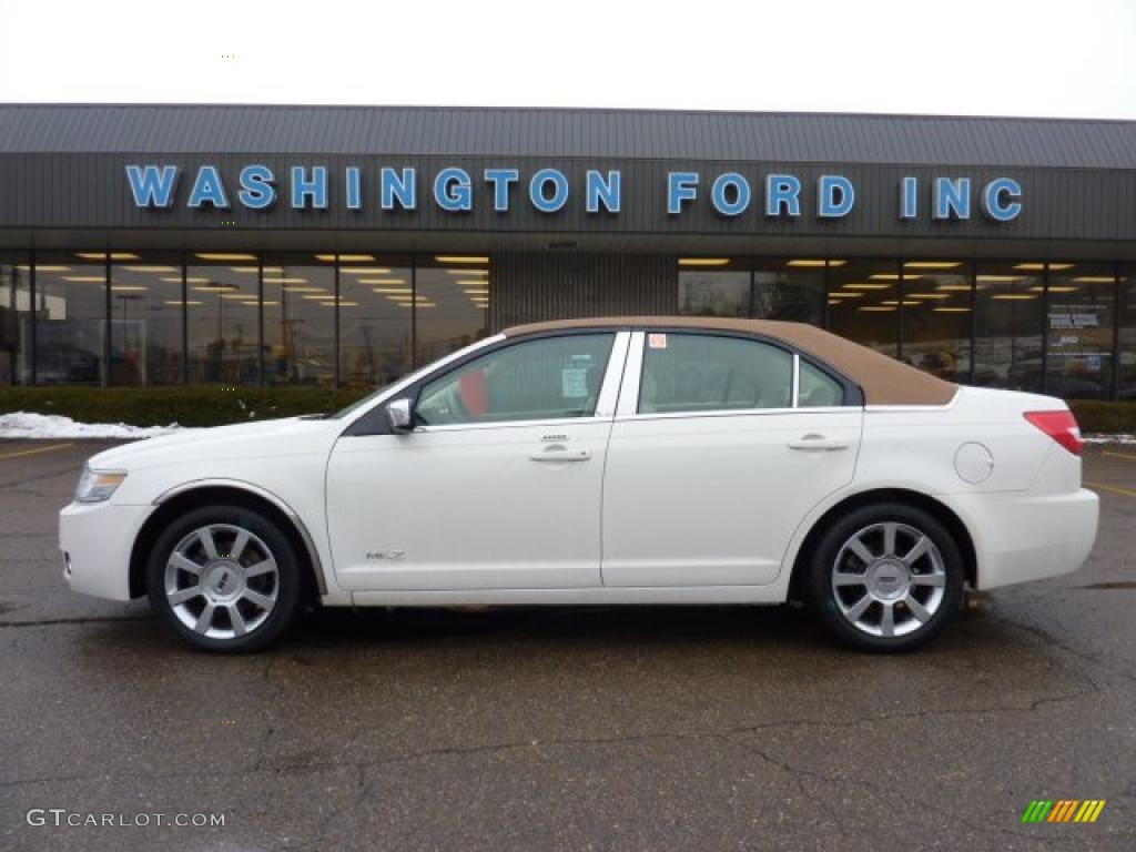 2008 MKZ AWD Sedan - White Suede / Sand photo #1