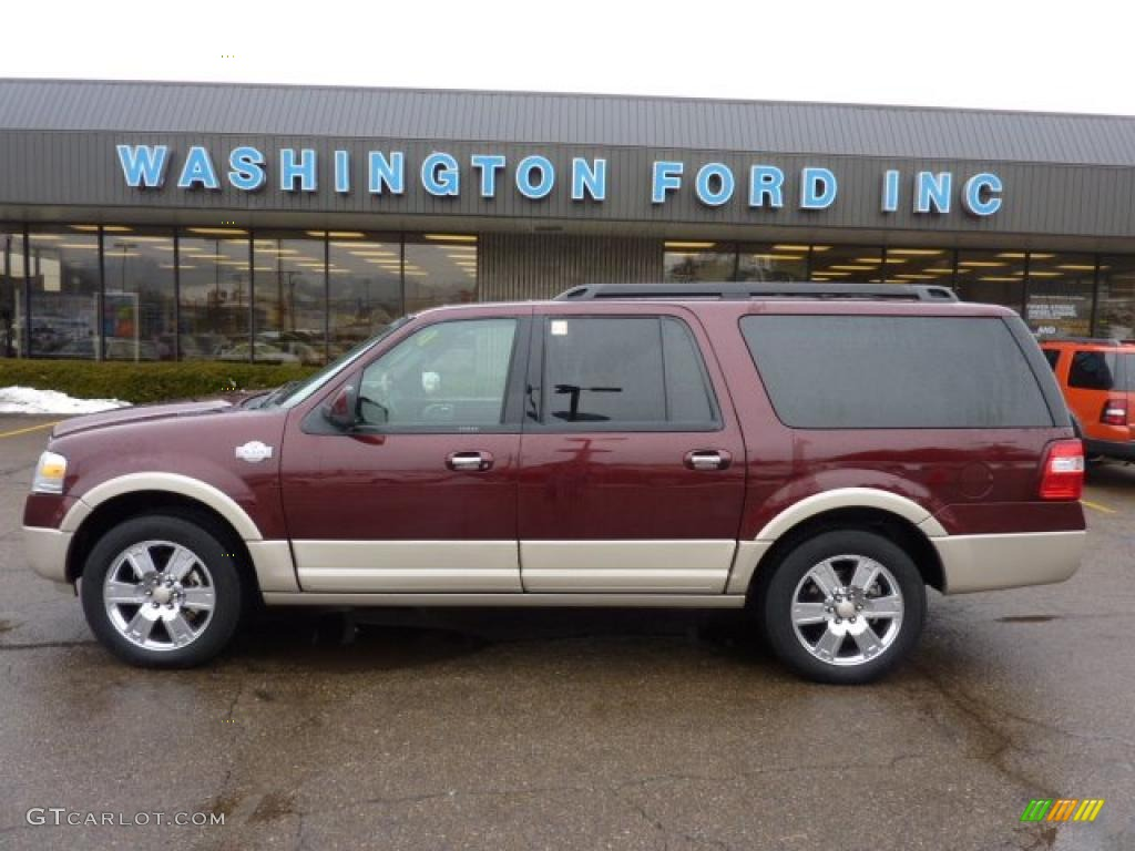 Royal red metallic ford expedition
